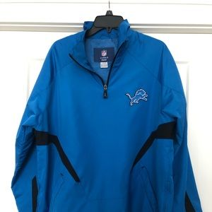 Detroit Lions Mens Windbreaker